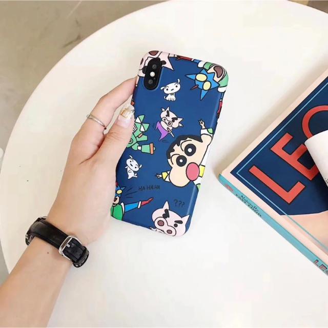 クレヨンしんちゃん iPhone XR 用 ケース ブルー の通販 by love2pinky's shop|ラクマ