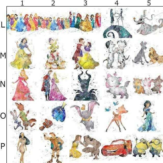 Disney(ディズニー)の日本未発売!ディズニープリンセス4・アートポスター【額縁つき・送料無料!】 エンタメ/ホビーのアニメグッズ(ポスター)の商品写真
