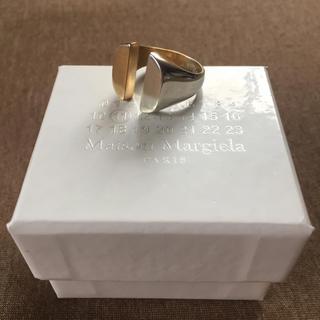 マルタンマルジェラ(Maison Martin Margiela)の18AW新品M マルジェラ ツートーン スプリットリング(リング(指輪))