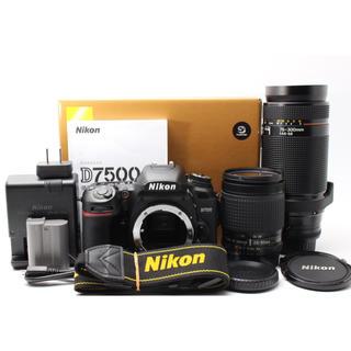 Nikon - ❤️超満足の撮影力❤️望遠レンズ付❤️ Nikon D7500 ダブルレンズ