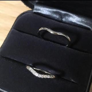 ティファニー(Tiffany & Co.)のほぼ未使用 ティファニー カーブドリング ペア(リング(指輪))