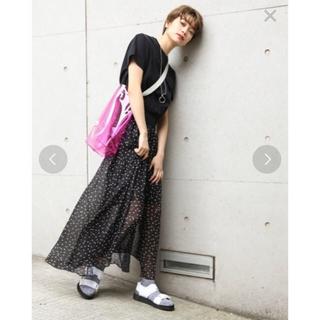 JEANASIS - 定価 6480円  JEANASIS ドットシフォンマキシスカート
