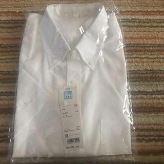 ユニクロ(UNIQLO)のメンズ ユニクロ★ドライイージーケアシャツ★ホワイト 半袖(シャツ)
