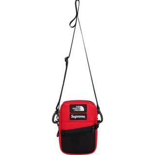 シュプリーム(Supreme)のSupreme TNF Leather Shoulder Bag 赤(ショルダーバッグ)