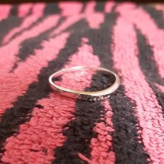 silver925刻印入り 細めリング 指輪 19号(リング(指輪))