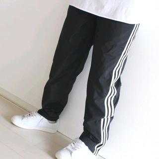 アディダス(adidas)のUS アディダス 黒 スリーストライプス ナイロン パンツ S(その他)