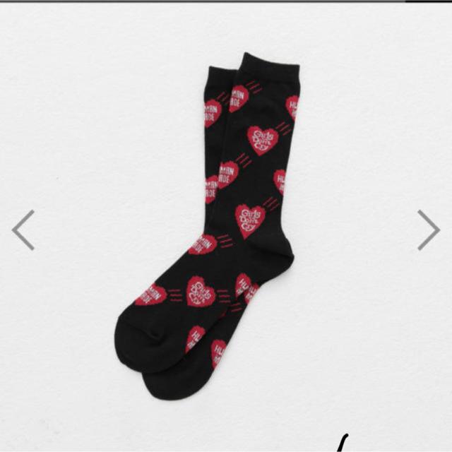 GDC(ジーディーシー)のGirls Don't Cry HUMAN MADE socks ソックス 黒 メンズのレッグウェア(ソックス)の商品写真