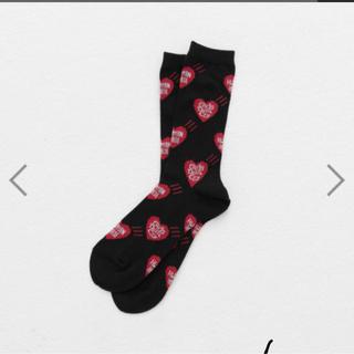 ジーディーシー(GDC)のGirls Don't Cry HUMAN MADE socks ソックス 黒(ソックス)