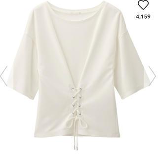 GU - GU コルセットTシャツ 白 ホワイト