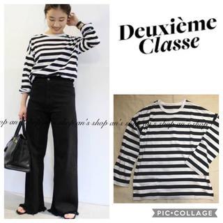 DEUXIEME CLASSE - 【試着のみ未使用品】2019SS クルーネックボーダーTシャツ
