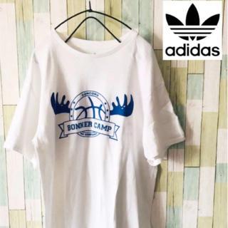アディダス(adidas)のアディダス Tシャツ 90's adidas 半袖 白 古着 ビンテージ バスケ(Tシャツ/カットソー(半袖/袖なし))
