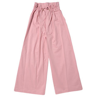 cotton wide pants PINK