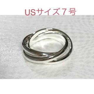 シルバー925リング3連7号(リング(指輪))