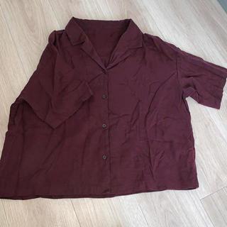 GU - ブラウンシャツ