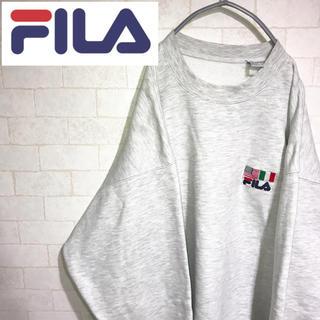 フィラ(FILA)のFILA フィラ スウェット トレーナー USA イタリア 刺繍ロゴ 90s(スウェット)