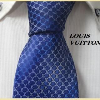 LOUIS VUITTON - 極美品★ルイヴィトン★【美しく輝くLVロゴ総柄】高級ネクタイ★