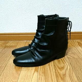 ドレープブーツ ブラック(ブーツ)