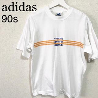 アディダス(adidas)の90s adidas Tシャツ 白 メンズM 古着 ロゴマーク(Tシャツ/カットソー(半袖/袖なし))