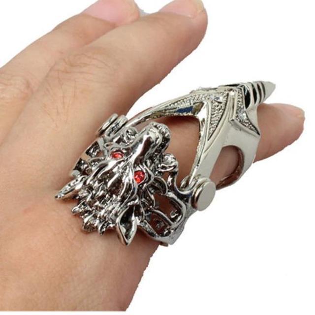新品◆オオカミフィンガーリング メンズのアクセサリー(リング(指輪))の商品写真