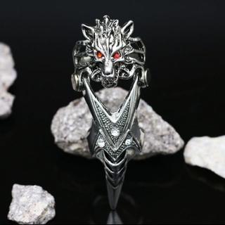 新品◆オオカミフィンガーリング(リング(指輪))
