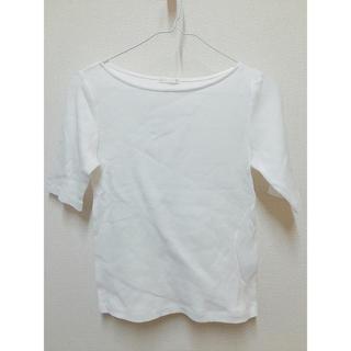 ジーユー(GU)のGU  トップス(ホワイト)(カットソー(半袖/袖なし))