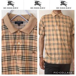 バーバリー(BURBERRY)の526 90s バーバリー  ノバチェック  ポロシャツ(シャツ)