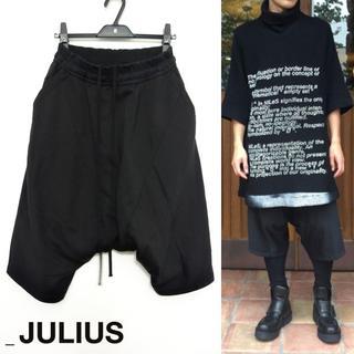JULIUS - JULIUS シームドクロッチパンツ 1 サルエル ブラック 2016FW
