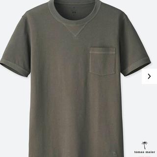ユニクロ(UNIQLO)のユニクロ トーマスマイヤー スーピマコットンTシャツ S グレー  新品送料無料(シャツ)