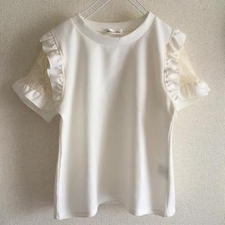 シマムラ(しまむら)のしまむら   Mサイズ  ワッフル  フリル レース カットソー  Tシャツ(Tシャツ(半袖/袖なし))