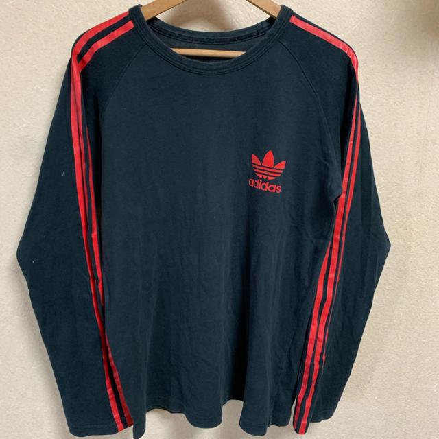 adidas(アディダス)の90s adidas ロンT 長袖 Tシャツ 古着 ビンテージ ロゴ ブラック メンズのトップス(Tシャツ/カットソー(七分/長袖))の商品写真