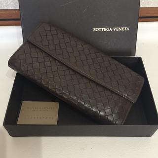 ボッテガヴェネタ(Bottega Veneta)のBOTTEGA VENETA こげ茶長財布(長財布)