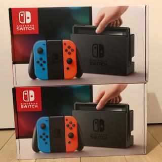 ニンテンドースイッチ(Nintendo Switch)の任天堂 Switch ネオン 2台 新品(家庭用ゲーム本体)