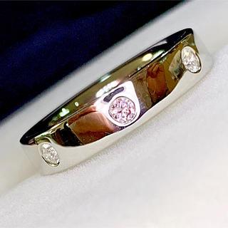 🌹【綺麗】さくら色の煌めき♡ピンクダイヤ&ダイヤ♡ドットエタニティリング(リング(指輪))