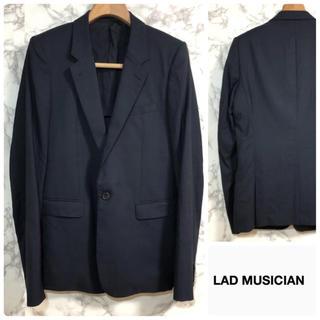 ラッドミュージシャン(LAD MUSICIAN)のラッドミュージシャン テーラードジャケット ストライプ ブラック 46(テーラードジャケット)