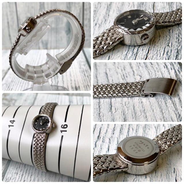 agete(アガット)の【美品】agete アガット 腕時計 ラウンドフェイス ジュエリーウォッチ レディースのファッション小物(腕時計)の商品写真