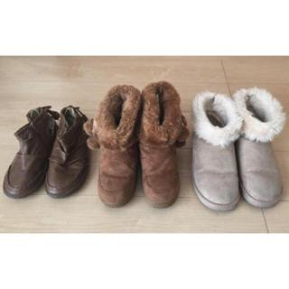 美品! ブーツ まとめ売り レザーブーツ & ムートンブーツ 2点 セット♡(ブーツ)