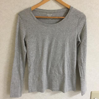 ジーユー(GU)のGU ロンT グレー(Tシャツ(長袖/七分))