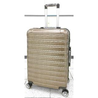 中型軽量スーツケース 8輪キャスター TSAロック付き Mサイズ 薄金