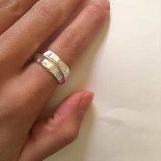 トゥデイフル(TODAYFUL)の新品未使用!マットシルバー 太め デザインリング(リング(指輪))