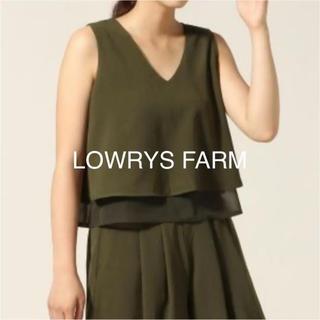 ローリーズファーム(LOWRYS FARM)のLOWRYS FARM♡お洒落!フレア ノースリーブ タンクトップ カットソー(タンクトップ)