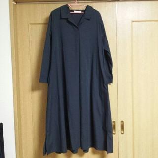 ショコラフィネローブ(chocol raffine robe)のワンピース  マキシワンピース ロングワンピース  ネイビー(ロングワンピース/マキシワンピース)
