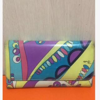 エミリオプッチ(EMILIO PUCCI)の本物エミリオプッチのカラフル系幾何学的な長財布(財布)