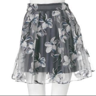 ダズリン(dazzlin)のダズリン ストライプ花柄スカート ♡(ミニスカート)