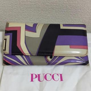 エミリオプッチ(EMILIO PUCCI)の本物エミリオプッチの幾何学的模様の長財布(財布)