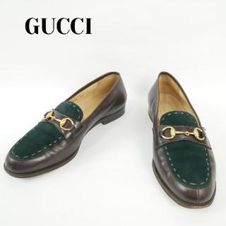 グッチ(Gucci)のGUCCI  グッチ 36C スウェード バイカラー パンプス(ハイヒール/パンプス)