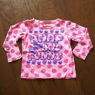 アナップキッズ(ANAP Kids)のANAP☆長袖Tシャツ☆ピンク色☆110cm(Tシャツ/カットソー)