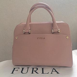 フルラ(Furla)の FURLA ハンドバッグ ピンク レア 保存袋付き(ショルダーバッグ)