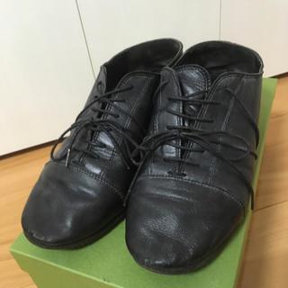 パドカレ(pas de calais)のパドカレpas  de calais黒レースアップシューズ(ローファー/革靴)