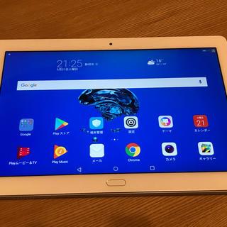 アンドロイド(ANDROID)の【美品】Huawei mediapad m3 lite 10 wp wi-fi(タブレット)
