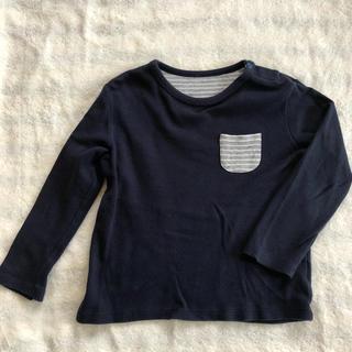 ユニクロ(UNIQLO)のUNIQLO ボーダー ポケット ロンT 100㎝(Tシャツ/カットソー)